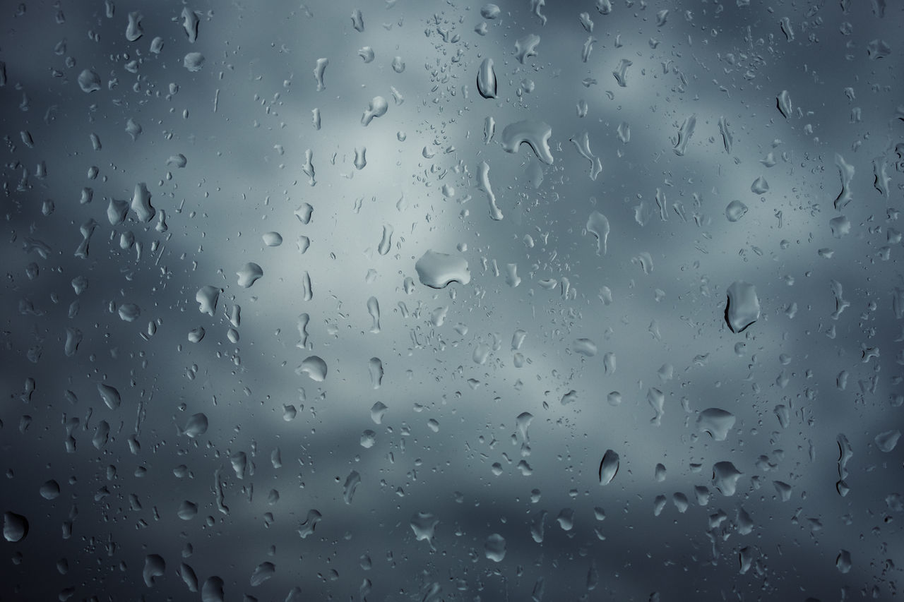 Backgrounds Close-up Day Drop Full Frame Glass - Material Indoors  Nature No People Rain RainDrop Sky Water Weather Wet Window