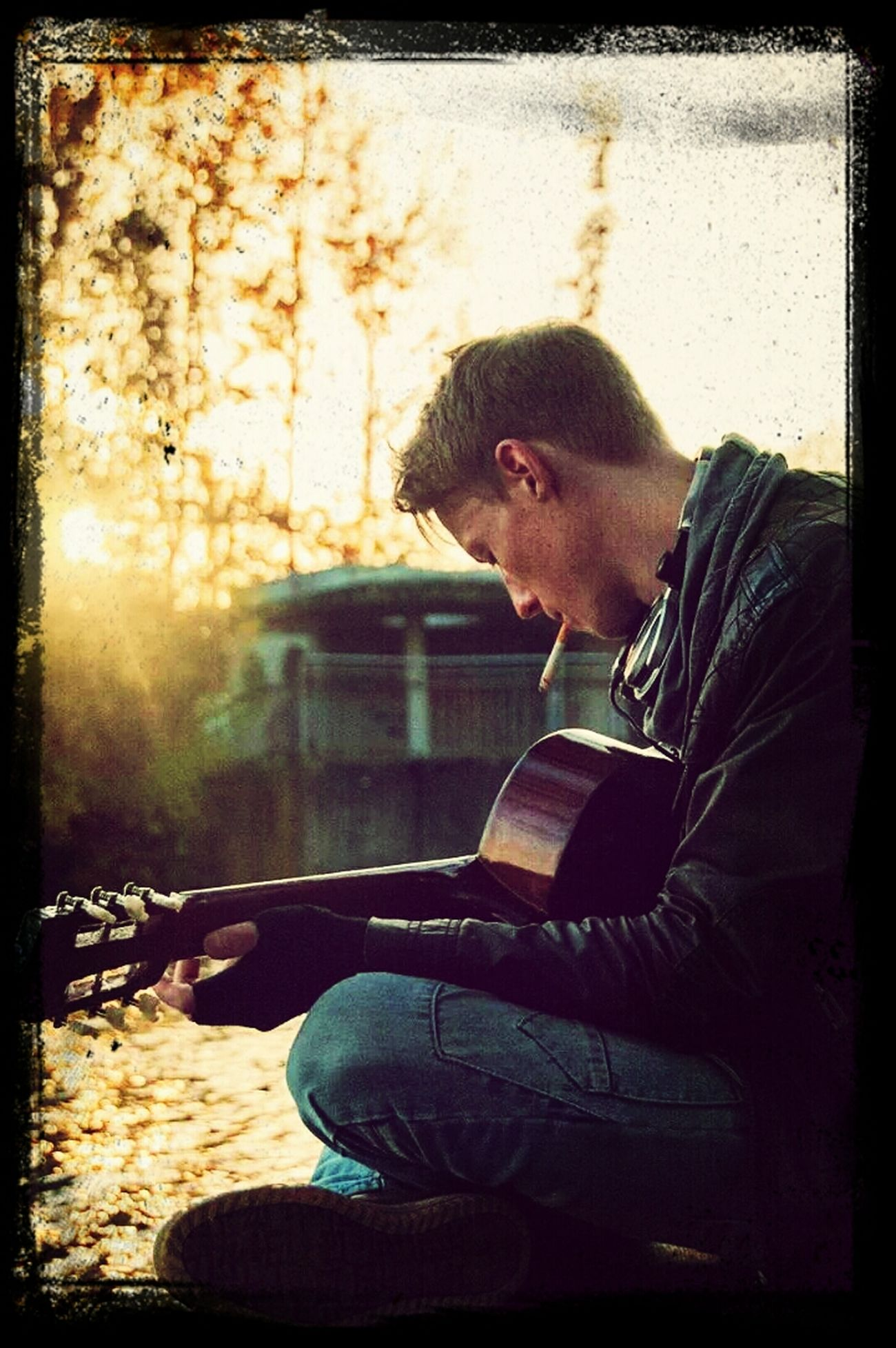 Me and my guitar.. listen to the sound of water