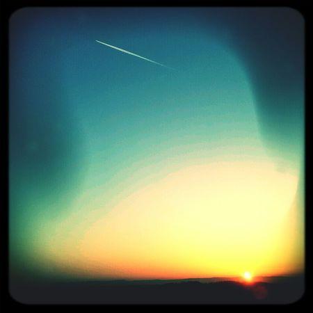 Sun Rise Air Plane