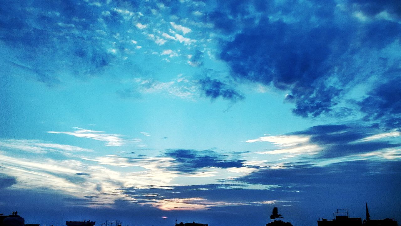 Blue Sky Cloud - Sky Nature No People Outdoors Backgrounds Day Blue Sky And Clouds Light And Shadow Sunset_captures Beauty In Nature Hdr_pics HDR