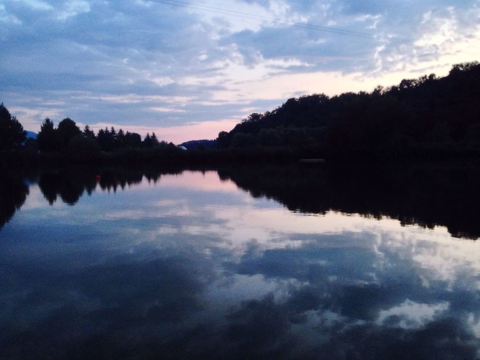 Lake View Reflection Sunset Beauty In Nature Trees And Sky Cloudscape Naturelovers Waterreflexions EyeEm Nature Lover Serendipity Eye For Photography