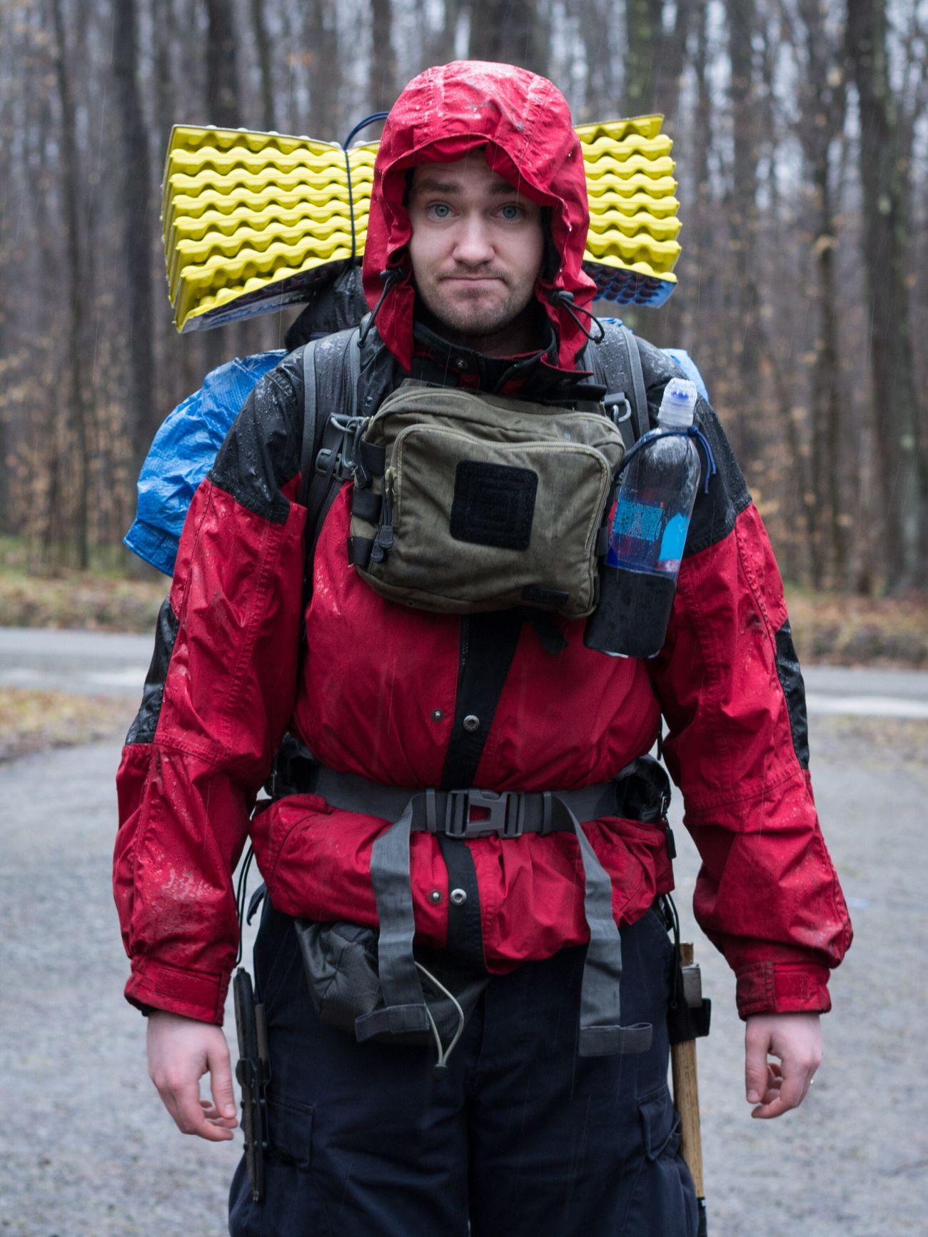 Yours Truly, about to head out on our latest backpacking trip. This isn't a technically perfect shot, but I don't have a lot of photos of myself. We had packed for winter, but it ended up being unseasonably warm. Photo credit goes to my beautiful wife. One Person Warm Clothing Outdoors Winter Front View Real People Camping Travel Photography Pennsylvania National Forest Nature Backpacking Hiking Allegheny National Forest Cold Temperature Man People Candid Rain