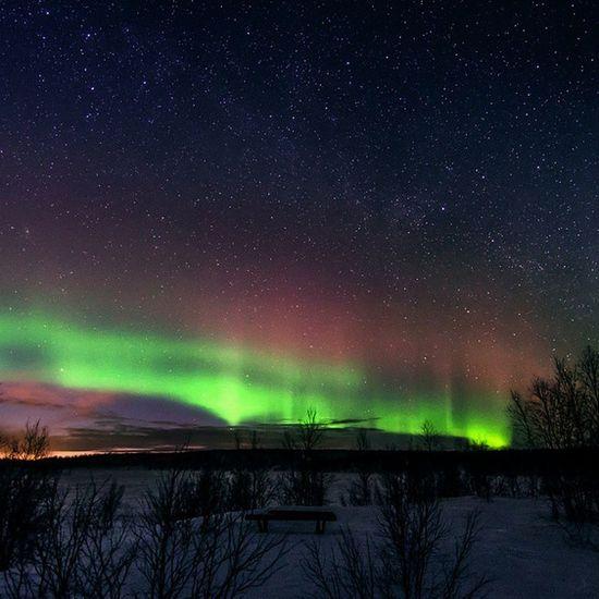 Good Night?Polarlight Milkyway Stars Nature view nightview sleep night