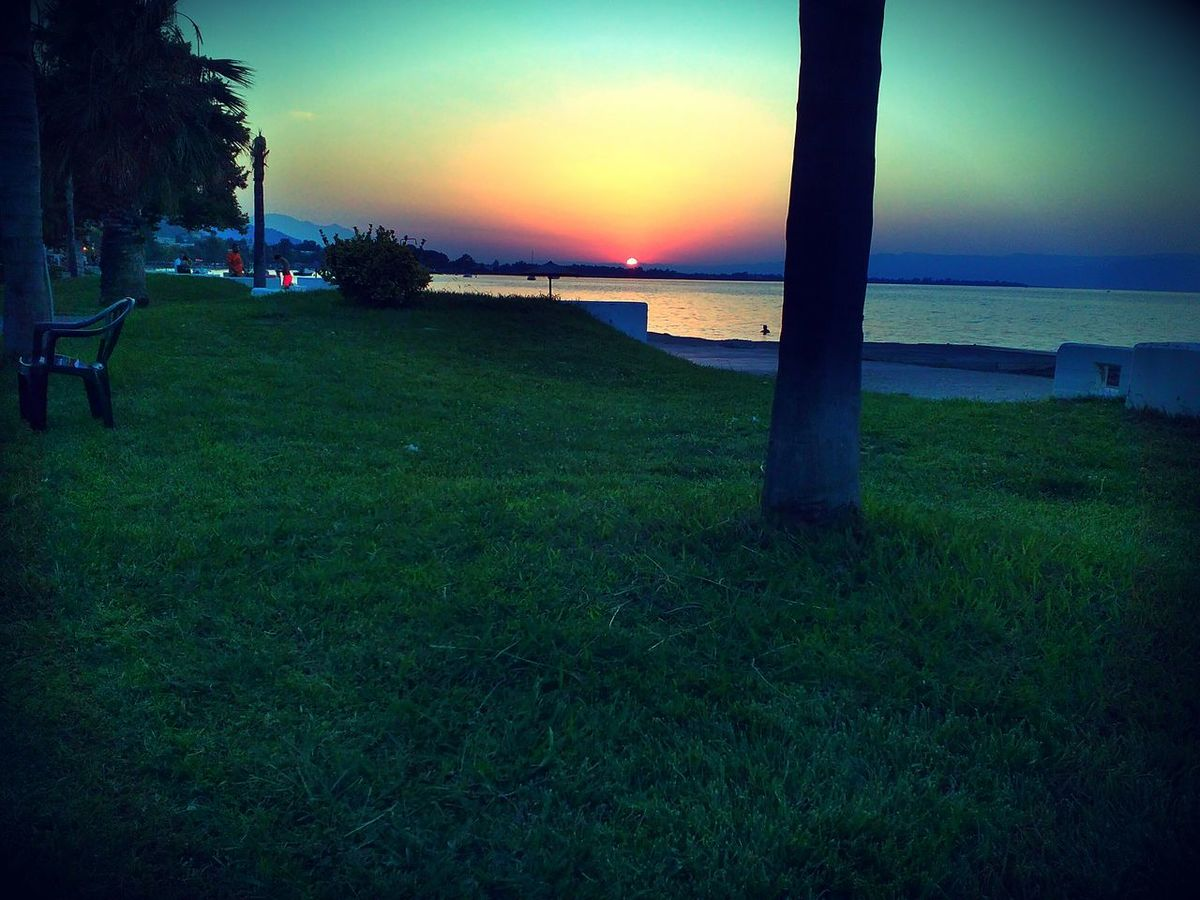 Sunset Water Sea Outdoors Beauty In Nature Beach Vacations Kamena Vourla Greecerelaxing!!!!!!!