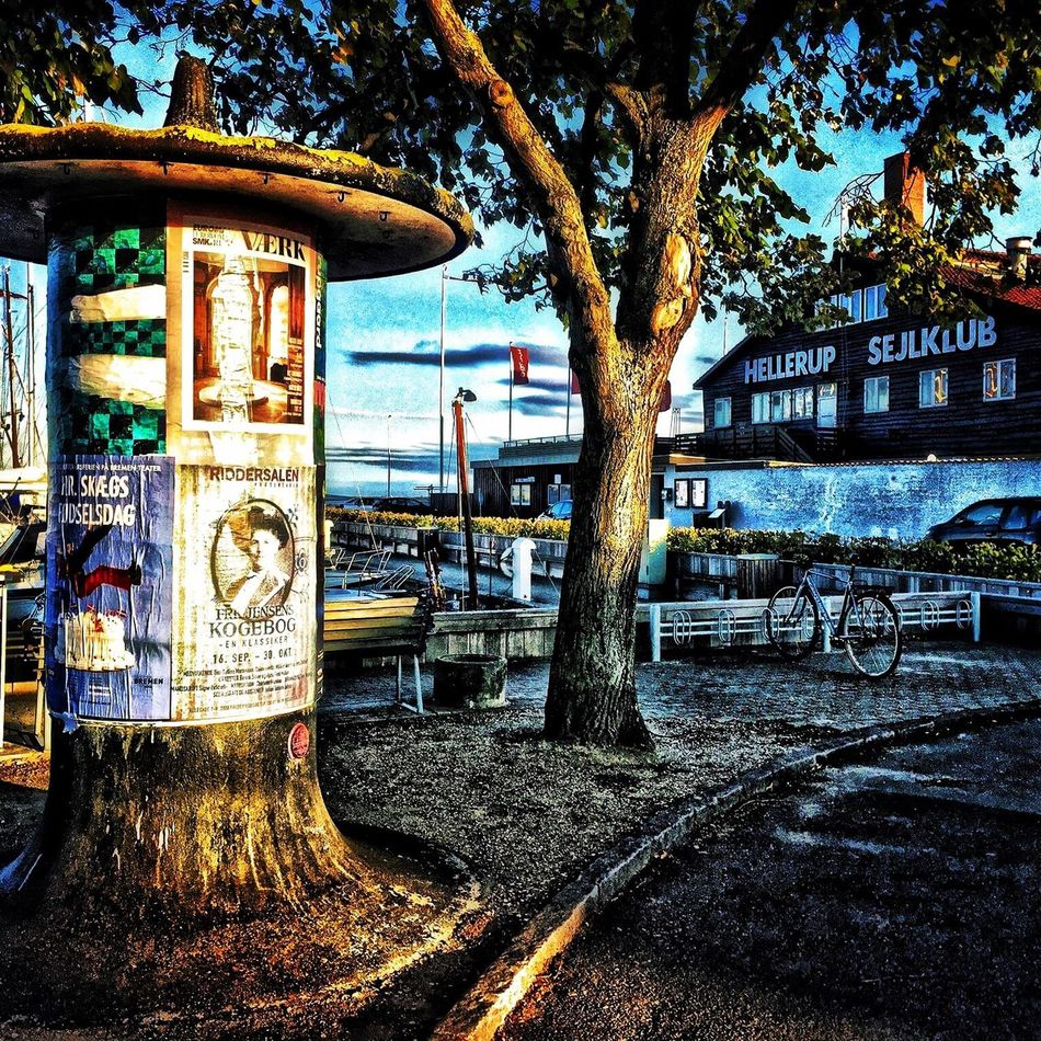 Hellerup Copenhagen Habour Poster Wall Old-fashioned HDR