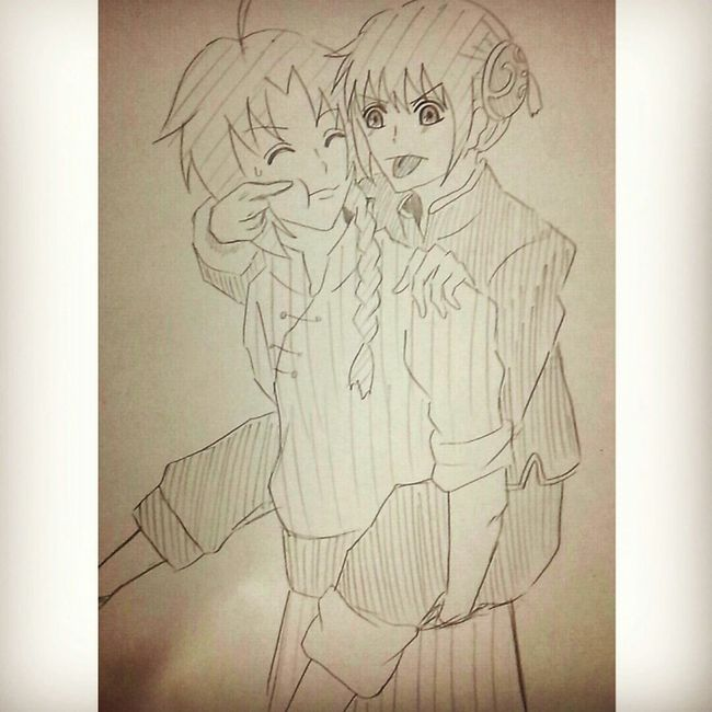 夜兎兄妹。 Anime Comic Gintama Illust 漫画 銀魂 絵