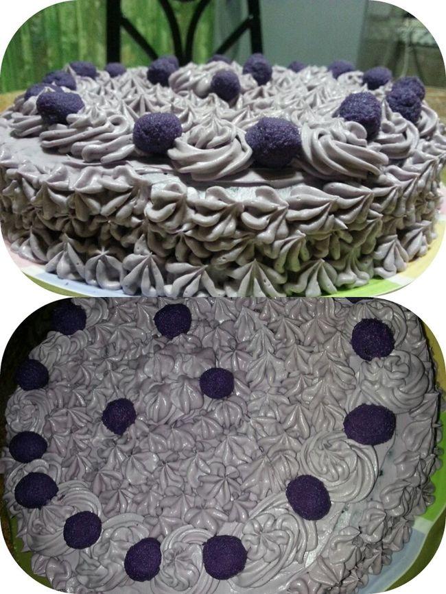 my Homebaked Ube Cake Purple Yum