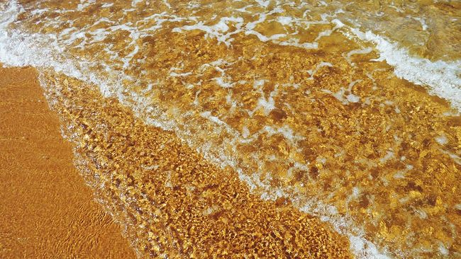 The Water On The Beach is my My Favorite Place Sand And Water Waves Pattern Guincho, Portugal Nature Beach Sand Sand Little Waves Colors And Patterns