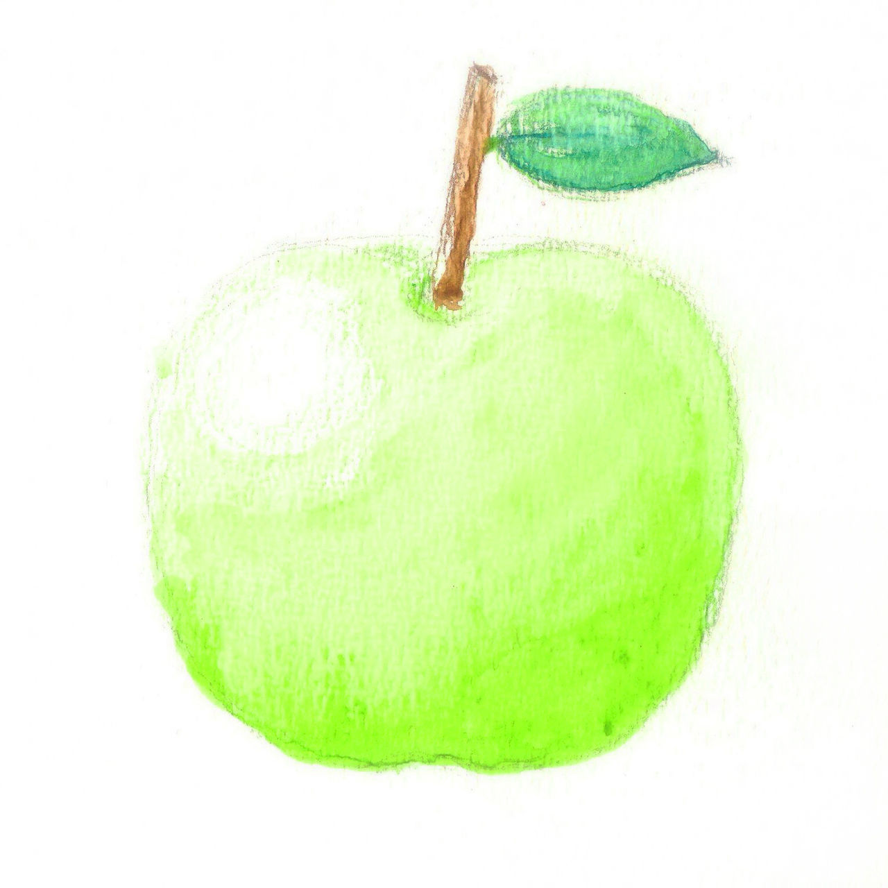 my artwork green apple water color on paper Apple Art ArtWork Background Color Green Green Apple Green Color Green Green Green!  My Artwork Nature Paint Paper Water Color White Background