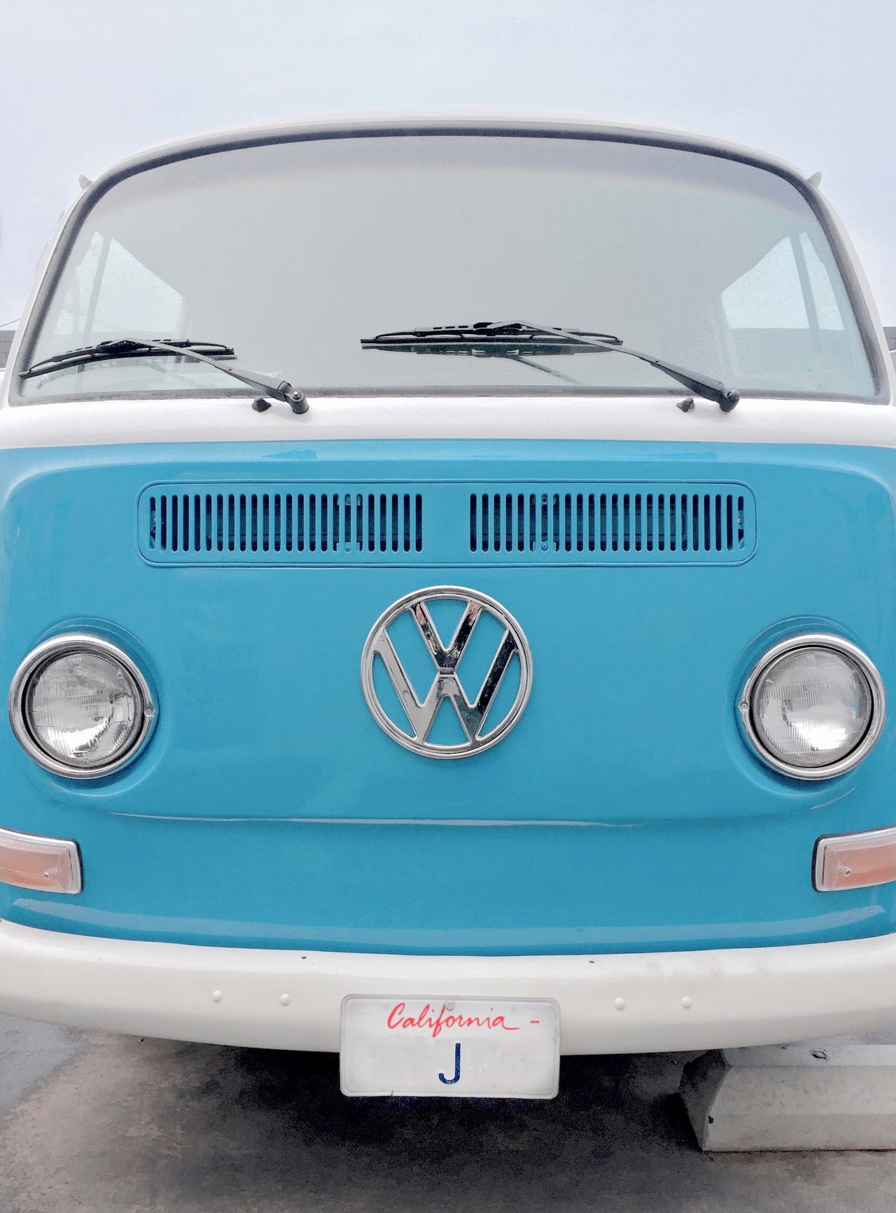 Baby Blue California California Dreaming Car Classic Day J No People Old-fashioned Outdoors Smile Text Transportation Volkswagen VW VW Bus