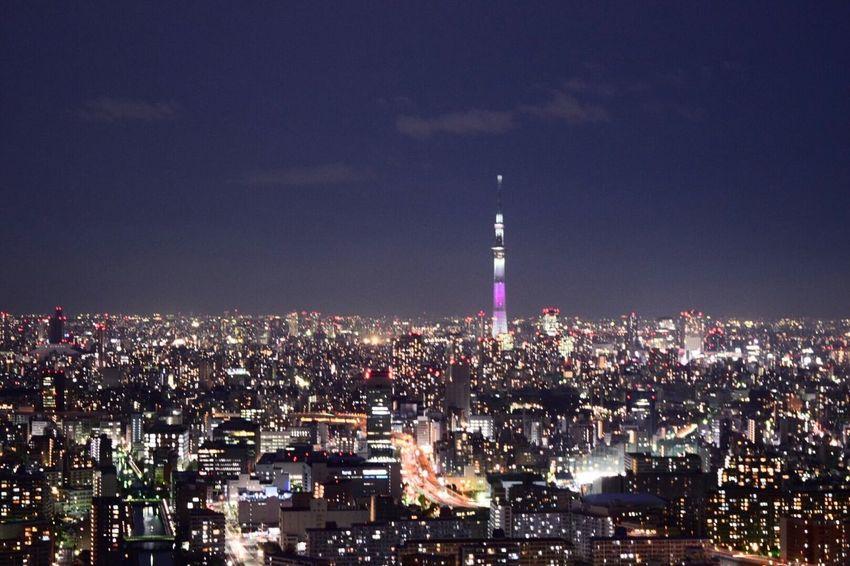 We can see Tokyo Skytree from the roof of high-rise apartment building EyeEm EyeEm Best Shots EyeEm Nature Lover EyeEm Gallery EyeEm Best Edits EyeEmBestPics EyeEmNewHere Picoftheday Follow Me Like Love City Cityscape Awesome Good Nice High