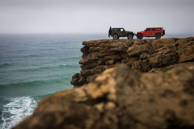 Jeep Wrangler will take you to the end of the world Sea Water Transportation Horizon Over Water Mode Of Transport Land Vehicle Rock - Object Car Cliff Rock Formation Non-urban Scene Shore Tourism Seascape Oman Outdoors Extreme Sports Extreme Jeep Wrangler Fresh On Eyeem