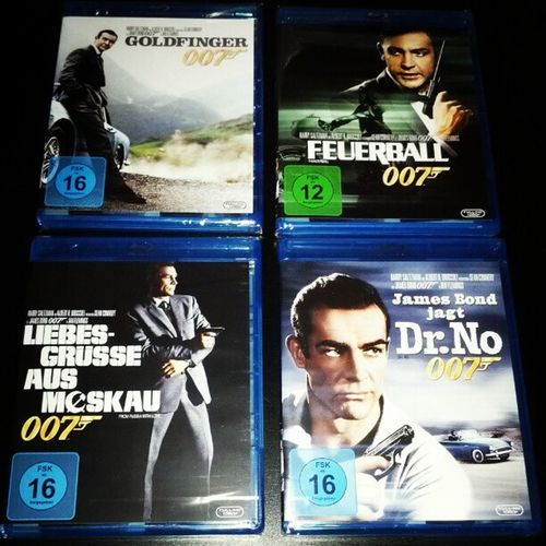 Willkommen in der Sammlung James Bond 007 Jamesbond Seanconnery Goldfinger dr.no thunderball fromrussiawithlove bluray