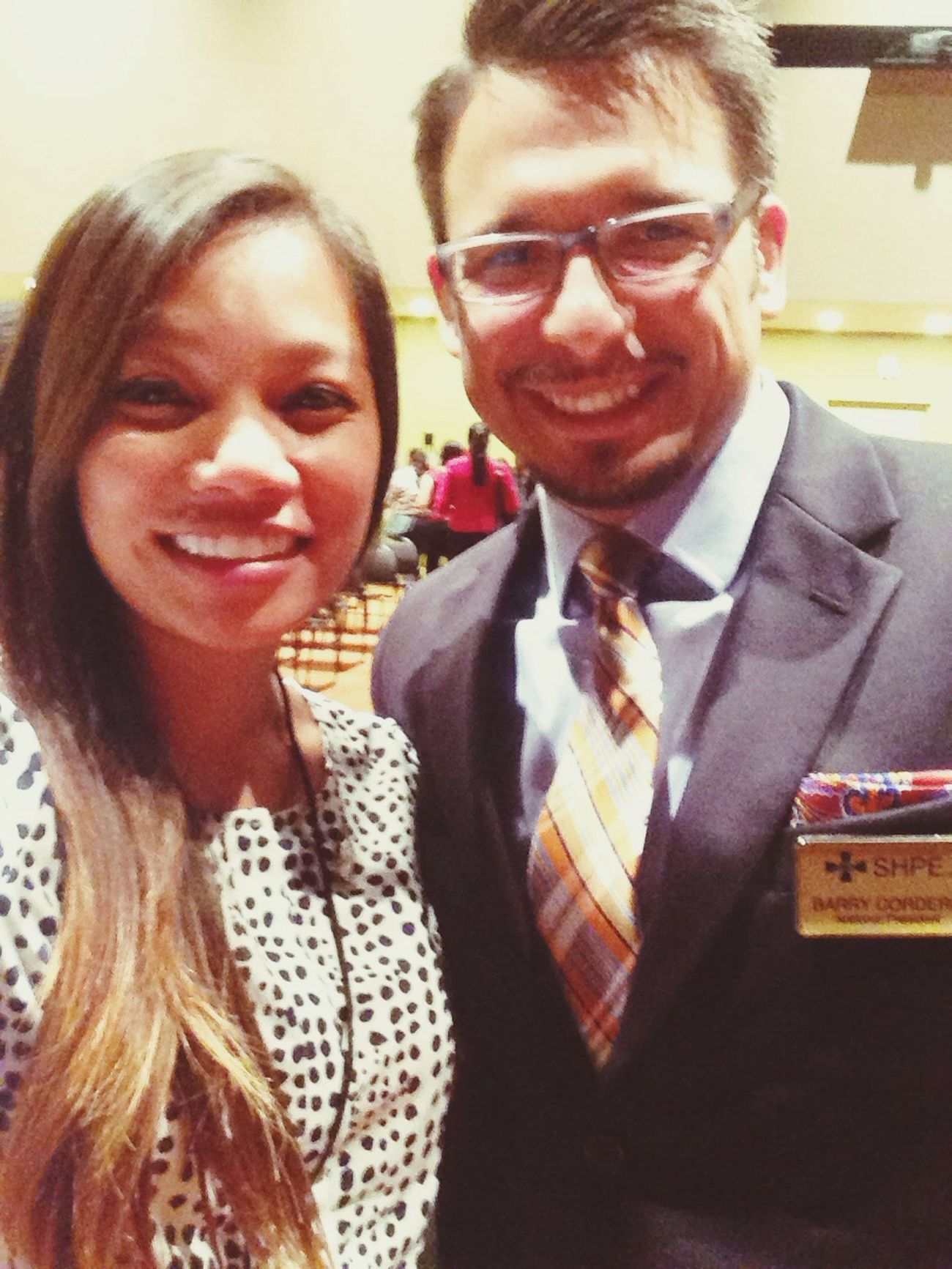 Selfie with my mentor/SHPE National President! Mentor SHPE Blessed  Happy