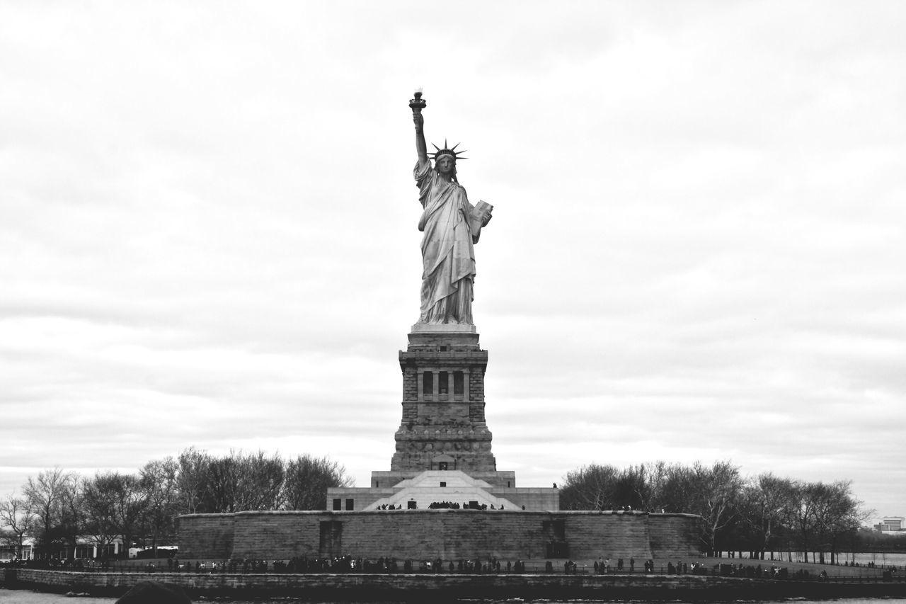 Beautiful stock photos of statue of liberty, Architecture, Building Exterior, Day, International Landmark