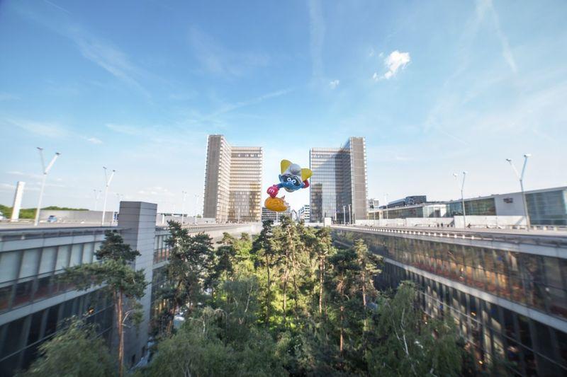 Schtroumpf Smurf Chronoshooting Super Hero Super Schtroumpf