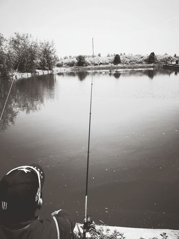 Fishing Patiently Waiting Outdoors,good day.