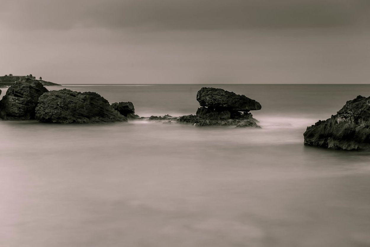 Beach Black & White Blackandwhite Blackandwhite Photography Calm Calming Condado Long Exposure Monochrome ND Filter Ocean Playa Puerto Rico Rocks San Juan PR Sea And Sky Serenity Soothing Surf Water Waves