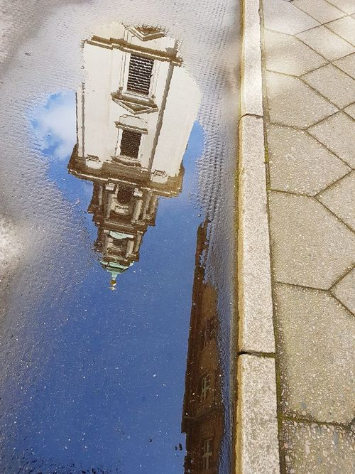 Sky No People Outdoors Archival Spirituality Day Nature Galaxy Berlin Germany Church Church Architecture Mirror Mirror Reflection Reflection Reflections In The Water Tourism Tourist Destination Vacation Holiday Berlin Mitte Berlin Tourism