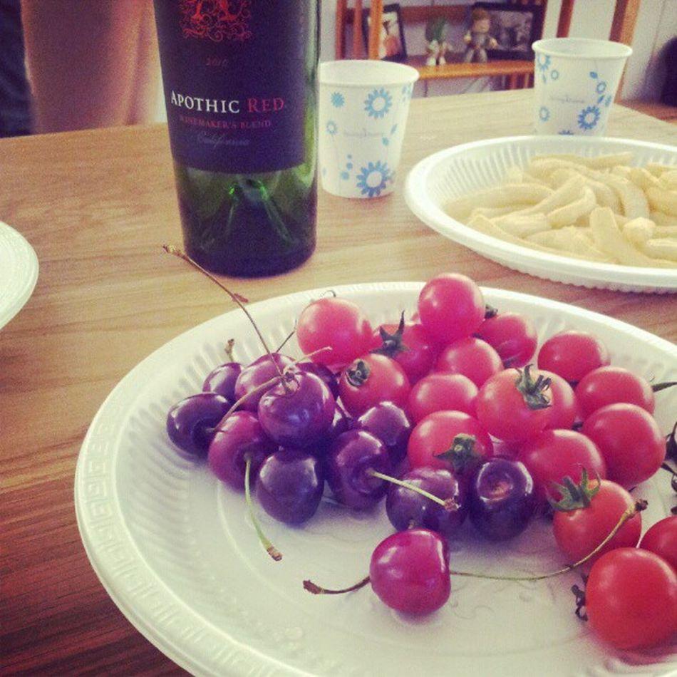 체리와 와인