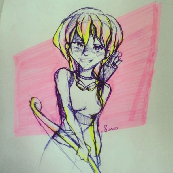Highlighters~ Sketches Highlighters Girl Drawing
