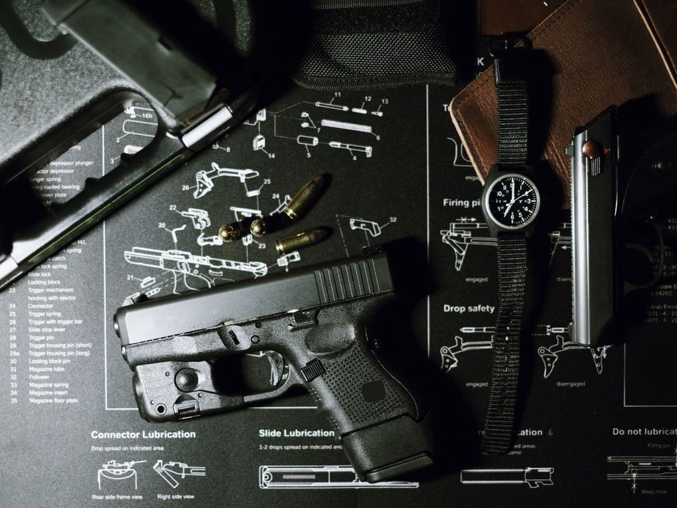 Tactical gear Close-up Gun Tactical Pistol