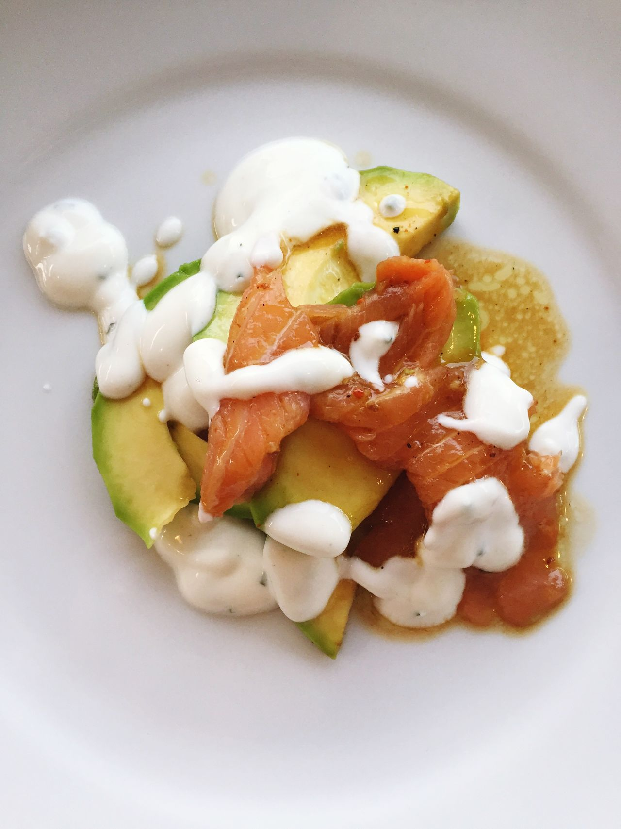 Smoked Salmon  & Avocado Salad Fresh Food Close Up Freshness Focus On Foreground Genuine Healthy Food Healthy Eating Appetizer Food Summer Food Ready-to-eat White Plate