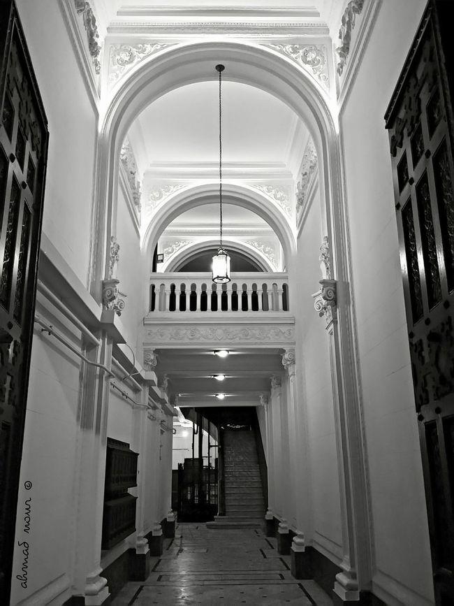 Cities At Night Alexandria Egypt Doors Mobilephotography Black & White