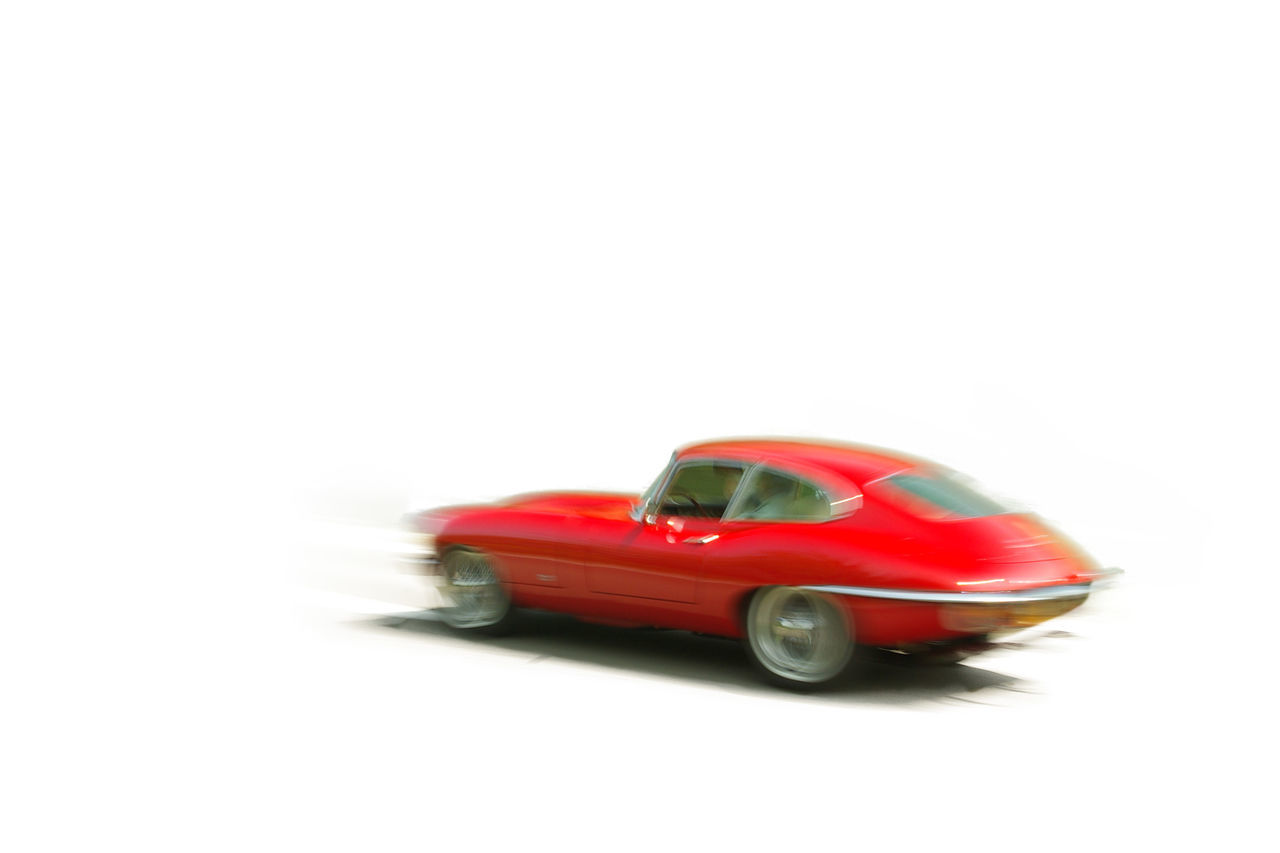 Classic sportscar Car Cars Classig Move Movement No People Old Oldtimer Red Speed Sportscar White Background