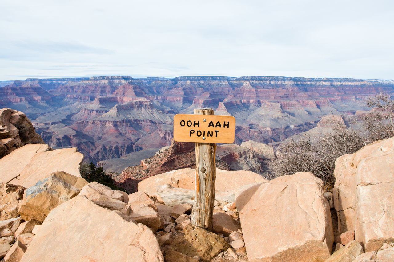 Ooh Aah Point, Grand Canyon National Park. Arid Climate Day Grand Canyon Grand Canyon National Park Grand Canyon, South Rim Lookout Mountain Nature Outdoors Rock - Object Sky Vantage Point View Viewpoint