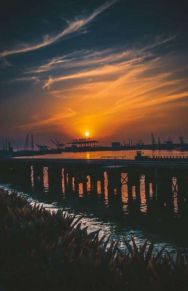Sunset at port grand Sunset Beauty In Nature Lovethynature Beautiful Nature Beautiful Pakistan Karachi EyeEm Throwback Wanderlust Travelphotography Port Grand