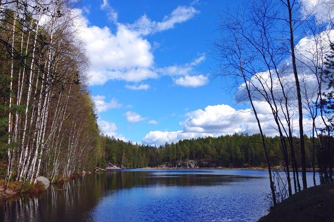 Forest Lake Reflection National Park Hiking Weekend Nuuksio This Is Finland