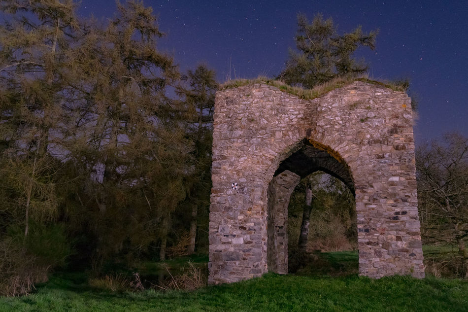 Astronomy Building Fortress Of Stone History Night Old Buildings Old Ruin Ruins Sky Star - Space Tranquility