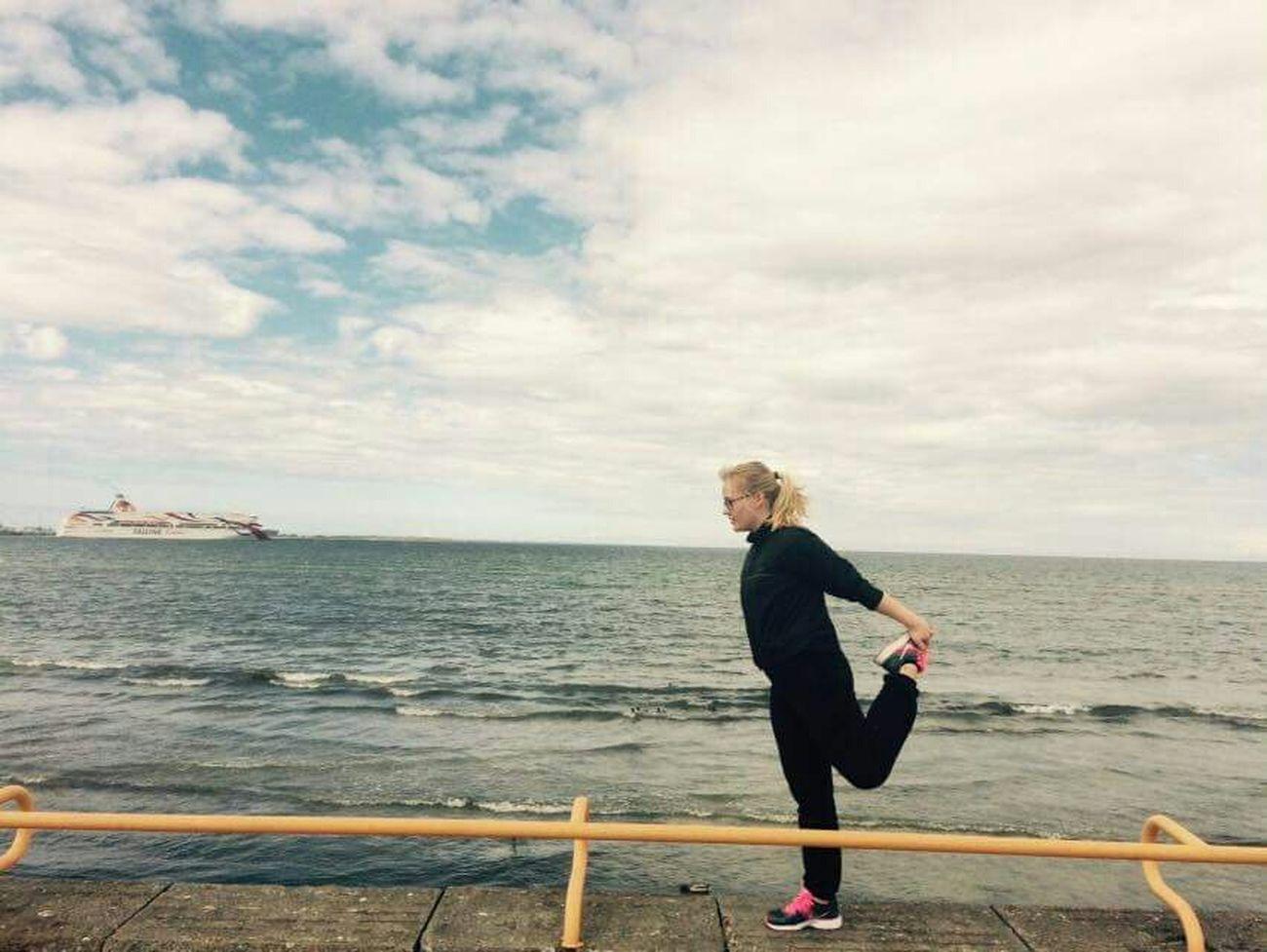 Hi! Nike✔ Tallink Taking Photos Sport Time Sea