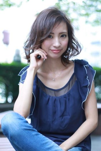 プログレス アーティスティックチーム サロンモデル ミディアム カット カラー パーマ 撮影 ヘアスタイル Hairstyle