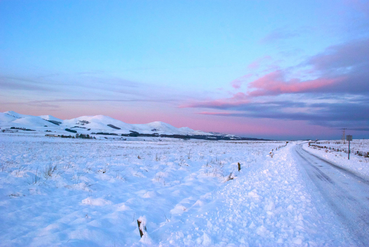 snow, cold temperature, nature, winter, scenics, beauty in nature, weather, tranquility, tranquil scene, sky, cloud - sky, outdoors, day, no people, water, animal themes, bird