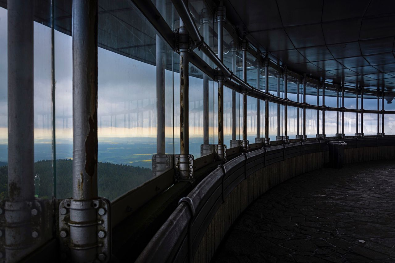 Pivotal Ideas Windows Wide View Going Around Architecture Perspective Metal Glass Depht Of Field Low Key Darkness And Light High Contrast Architecture_collection World Heritage Panorama Panoramic View Futuristic Architecture Liberec Jested