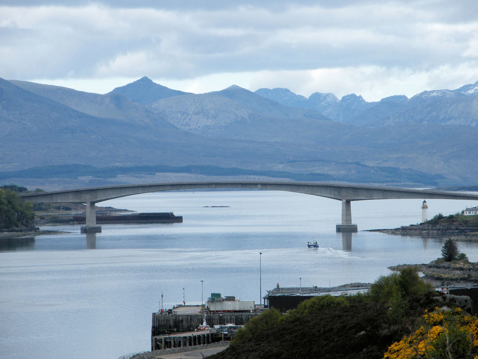 Architecture Bridge - Man Made Structure Built Structure Connection Day Eilean Ban Isle Of Skye Kyle Of Lochalsh Lighthouse Nature No People Outdoors Scotland Sea And Mountains Sky Skye Bridge Water