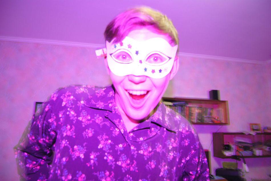 Party Partymonster Partymaker Shaker Joy Mascarade Milky Way Stars Lights Purple Violet