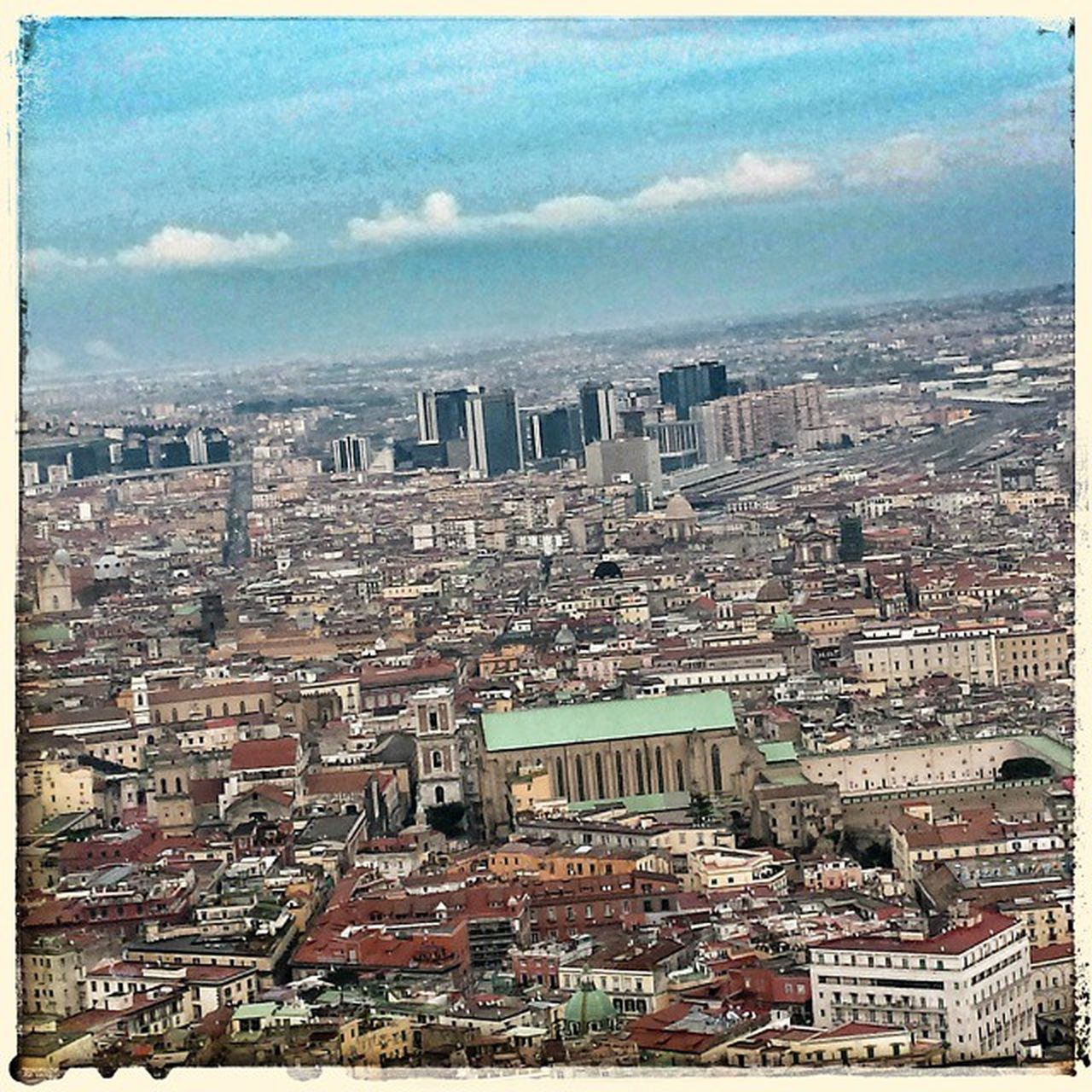 Napoli Naples Neapel なポリ イタリア 愛 buildings skyscrapers sky clouds Italy panorama church old new welcome