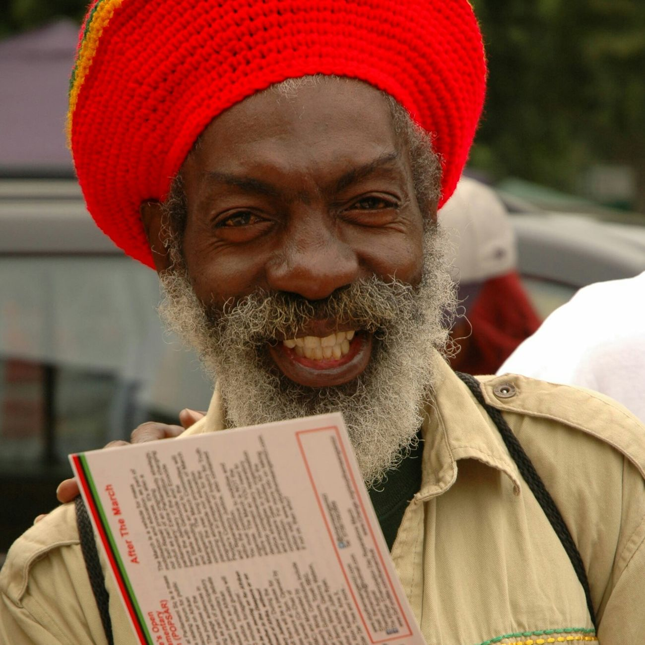Portrait Marching March City Street City Man RASTA Street Photography Street Smile Senior Adult Grey Hair One Person One Man Only Outdoors Hat Togetherness Portraits Urban Locs Melanin Streetphotography Arts Culture And Entertainment Real People