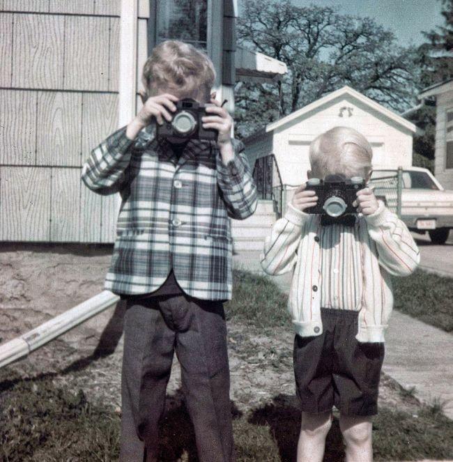 Camera Photography Leicacamera 1961 Children's Portraits Plaid Suit