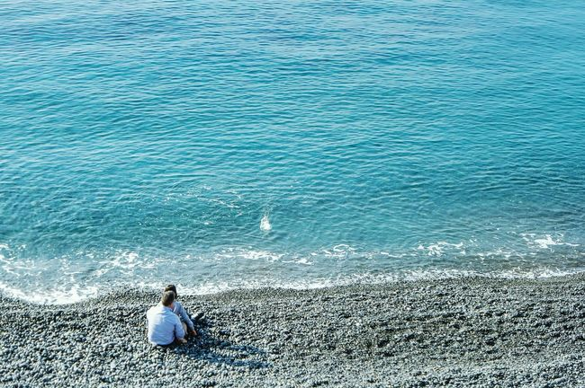 Blue Wave in Camogli, Italy Taking Photos Nature_collection Landscape_Collection EyeEm Best Shots Fresh 3 Open Edit Eye4photography  Sea View Learn & Shoot: Balancing Elements