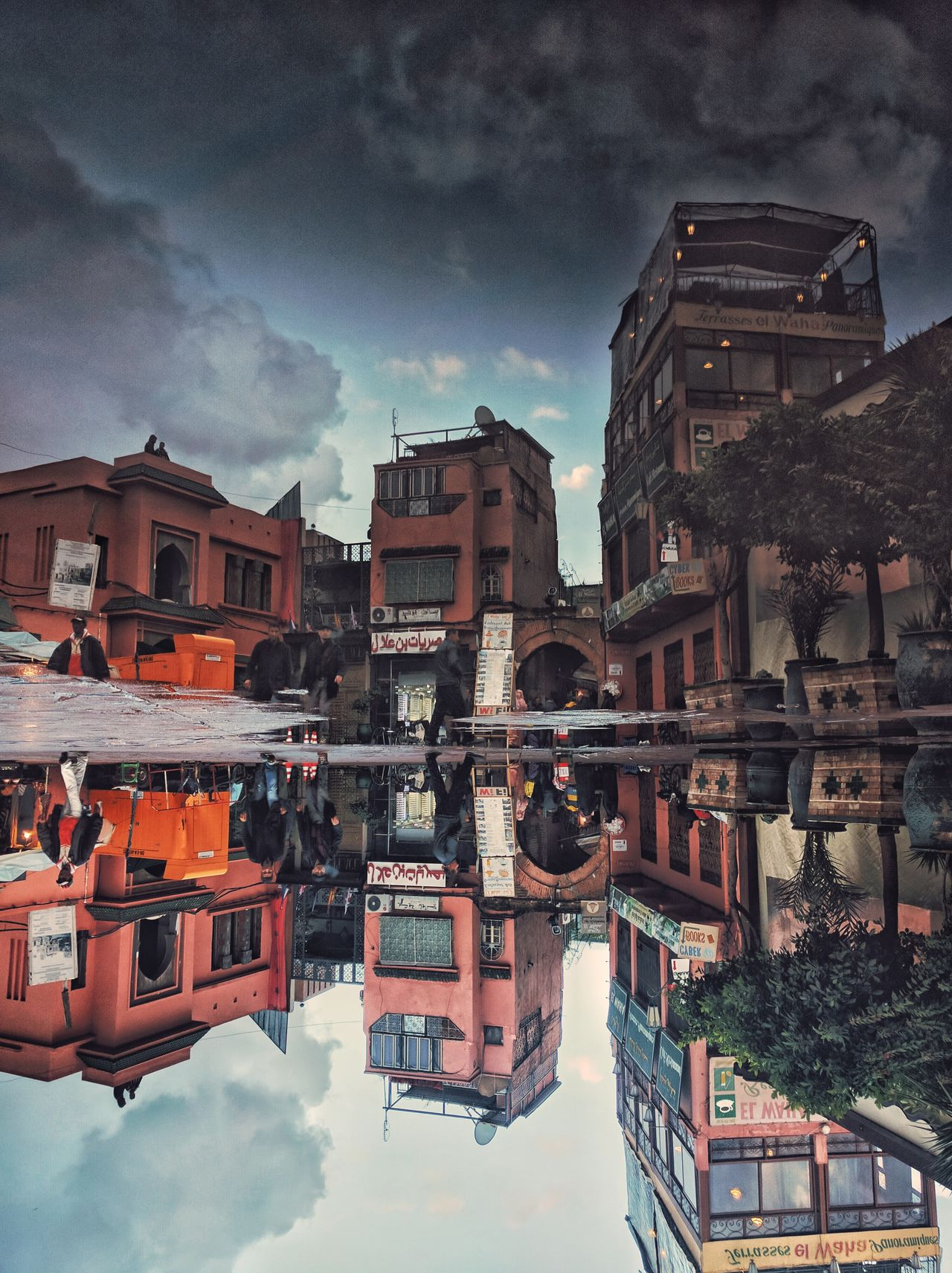 Reflection Building Exterior Architecture Sky Built Structure City Travel Destinations Water City Life Outdoors Cityscape Medina Streetphotography Marrakech, Morocco Morocco_travel Morocco Street Cultures Marrakesh Lifestyles Local Landmark Architecture Buildingstyles Buildings & Sky Low Angle View