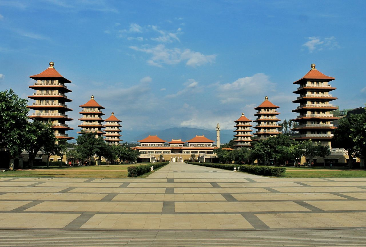 FO GUANG SHAN Cultures History Palace Tourism Tradition Building Exterior Taiwan Kaohsiung Monastery Statue Fo Guang Shan Buddha Spirituality Buddhist Temple Religion