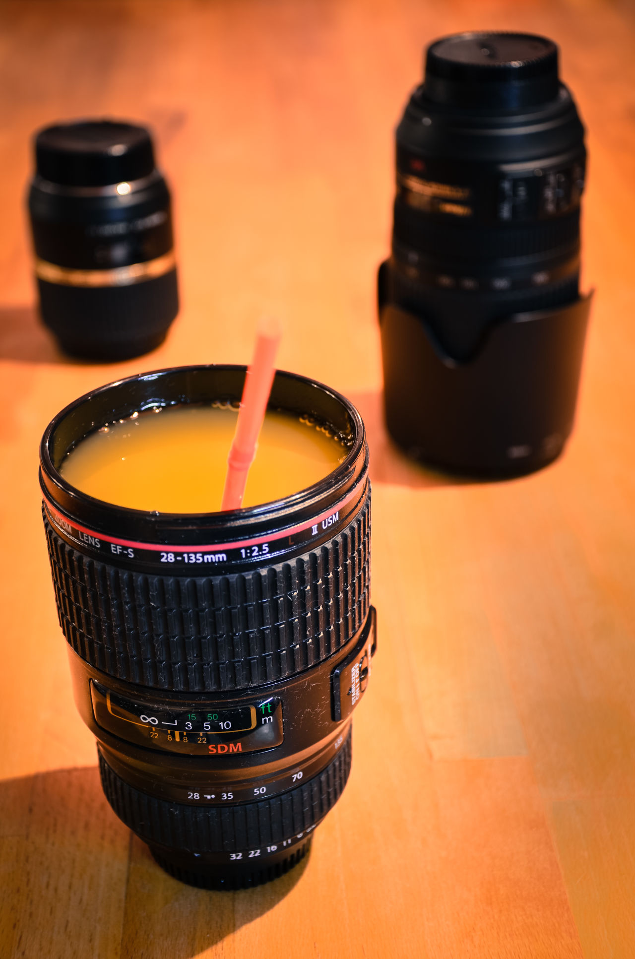 Close-up Drink Focus On Foreground Fun Illuminated Lens Lenses No People Orange Juice  Passion Photography Material Selective Focus Still Life Lieblingsteil