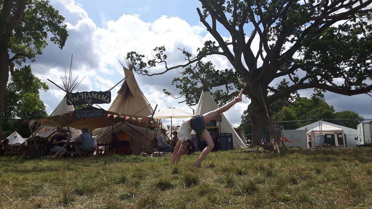 Festival Flexiblity Gymnast  Outdoors Tipi Wilderness