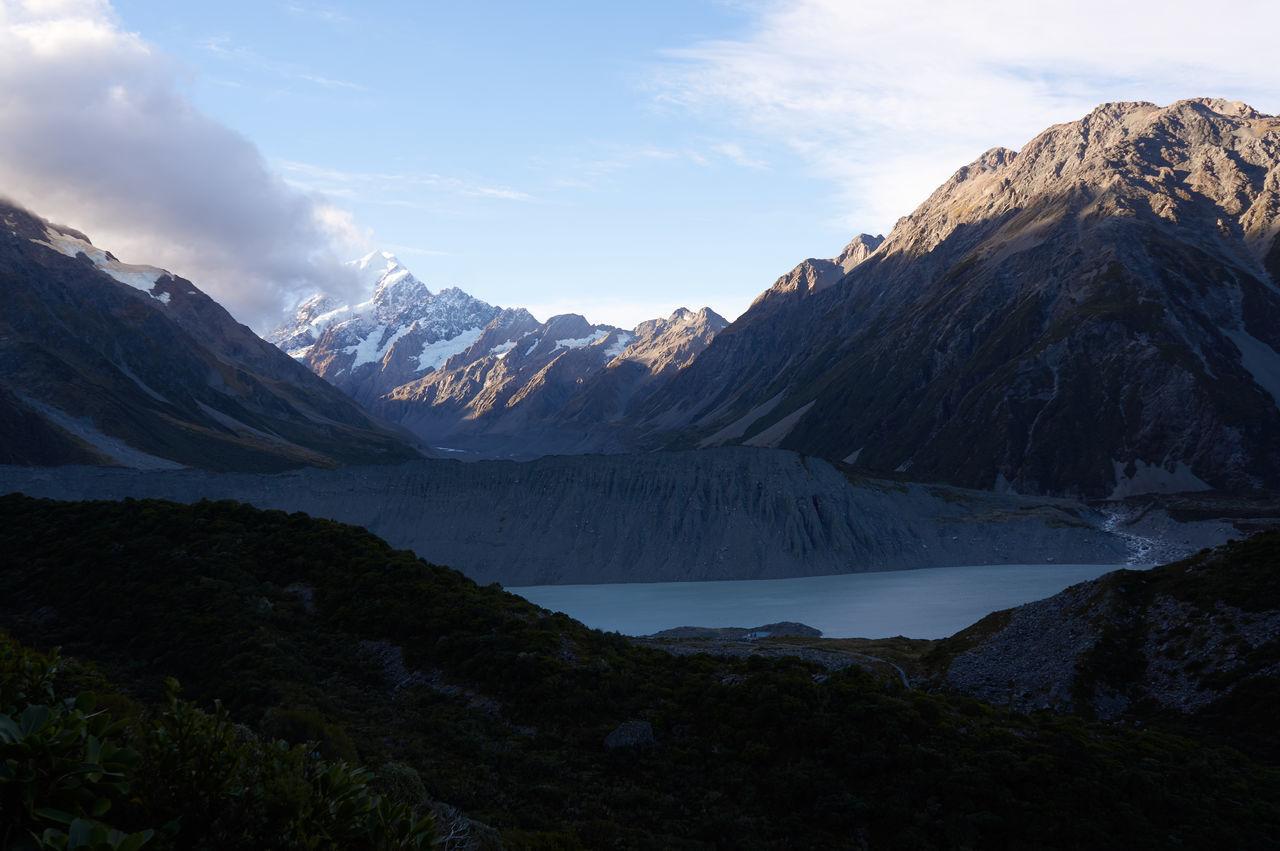Mt Cook / Canterbury / South Island / New Zealand Cloud - Sky Lake Landscape Mountain Mountain Range No People Outdoors Scenics Sky Sunset
