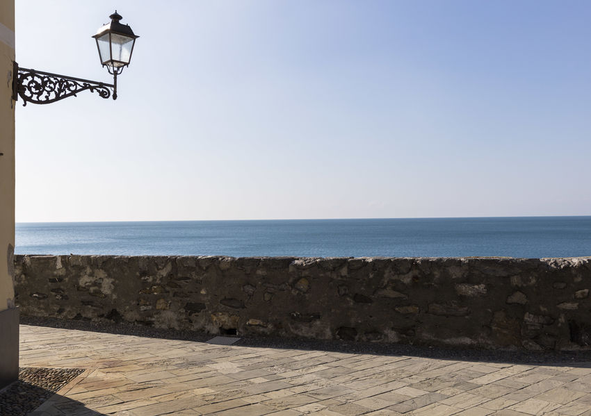 Details Camogli Camogli Italia Beach Beauty In Nature Clear Sky Day Horizon Over Water Lamp Minimal Minimalism Nature No People Outdoors Sea Sky Tranquil Scene Tranquility Water