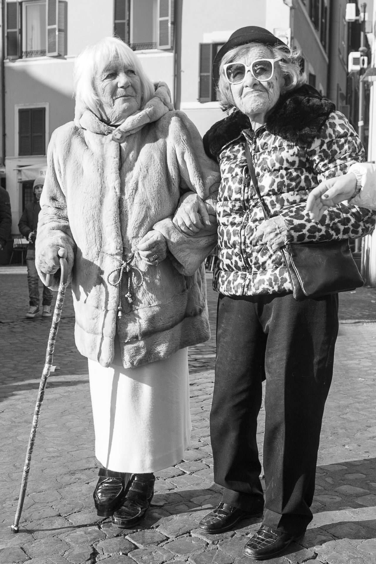 Adult Adults Only Attitude City Day Don't Give A F***! Fashion Fashion&love&beauty Full Length Fur Coat Lifestyles Never Get Old Never Growing Up... Old Ladies Old Lady Outdoors People Real People Street Street Photography Streetphotography Sun Glasses Swagger  Togetherness Young Attitude